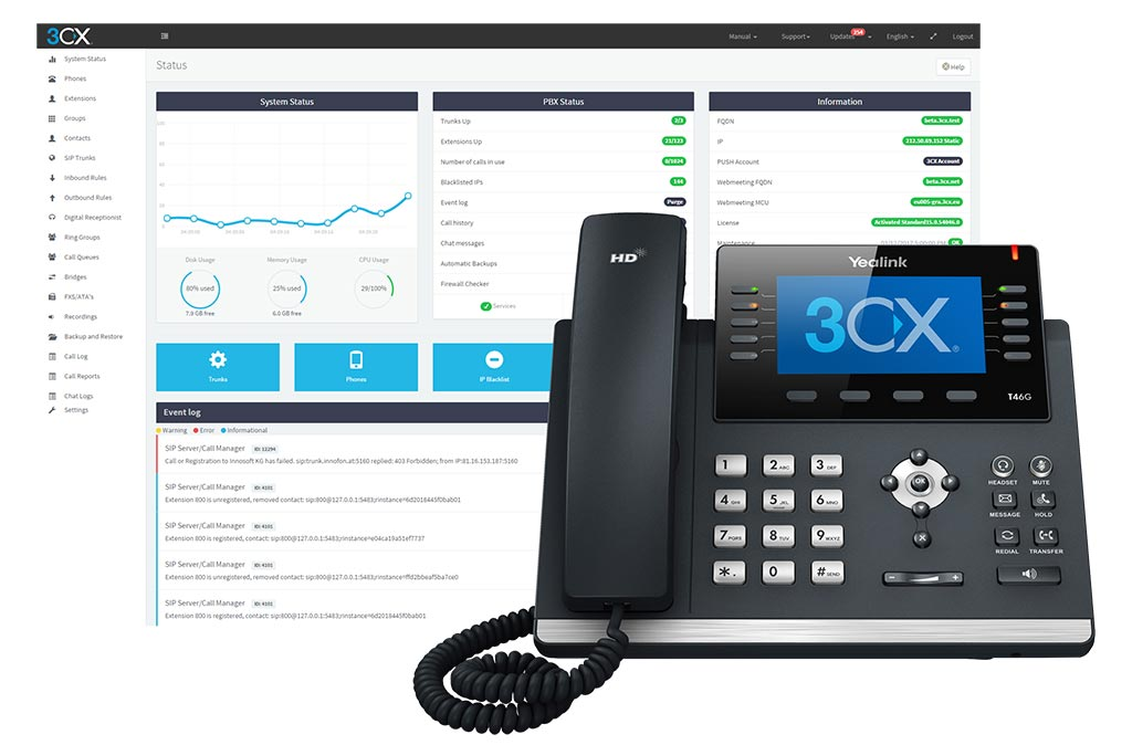 Telefonía Voz-IP 3CX
